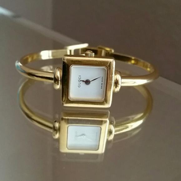74b8205b2e0 Gucci Accessories - Authentic Gucci Quartz Square Face Bangle Watch